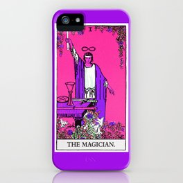 1. The Magician- Neon Dreams Tarot iPhone Case