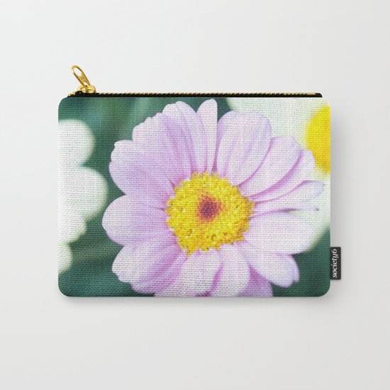 Soft Pink Marguerite Daisy Flower #1 #decor #art #society6 Carry-All Pouch