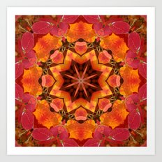 Serviceberry mandala tapestry II Art Print