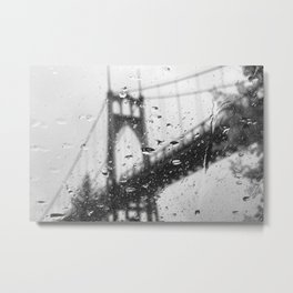 Rainy Bridge Metal Print