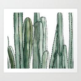 Desert Cactus Cluster Art Print