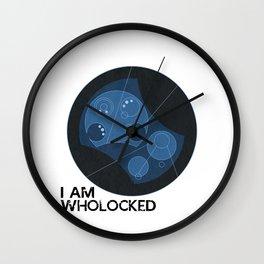 I AM WHOLOCKED (Text) - Doctor Who / Sherlock Wall Clock