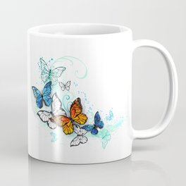 Artistic Morpho and Monarchs Coffee Mug