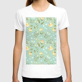 Colourscape Summer Floral Pattern Nebula T-shirt