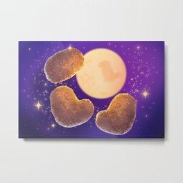 Three Nugget Moon Metal Print