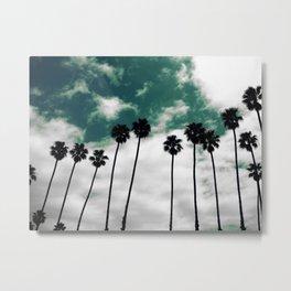 Palms in the sky Metal Print