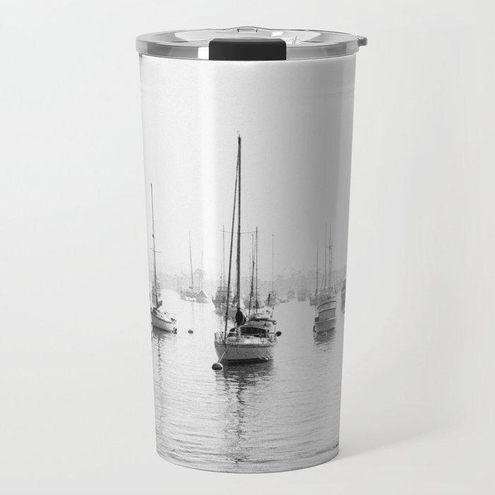 early morning harbor Travel Mug