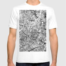 Nuts MEDIUM White Mens Fitted Tee
