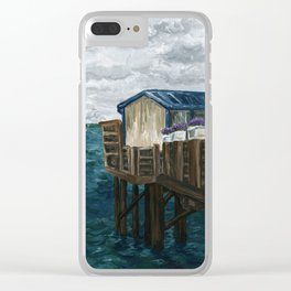 Lost Tranquility Clear iPhone Case