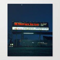 Movie rentals Canvas Print
