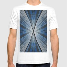 Abstract architecture Mens Fitted Tee White MEDIUM
