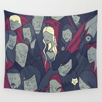 ale giorgini Wall Tapestries featuring Ice and Fire by Ale Giorgini