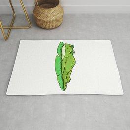 Frog on Leaf  Rug