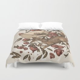 Coyote Love Letters Duvet Cover