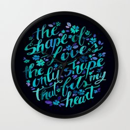 The shape of love Wall Clock