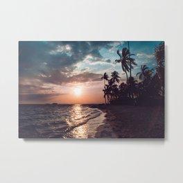 Sunset beach. San Blas, Panama Metal Print