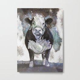Cosmic Cow Painting Metal Print