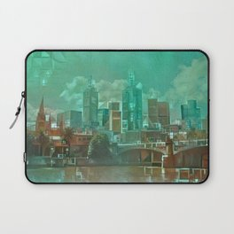 Melbourne Waterfront Abstract Laptop Sleeve