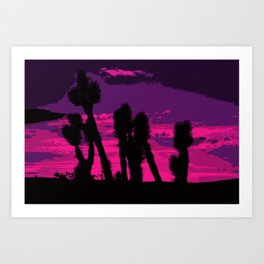 Joshua Sunset Art Print