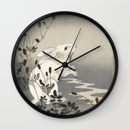 Rabbit and the Moon Wall Clock