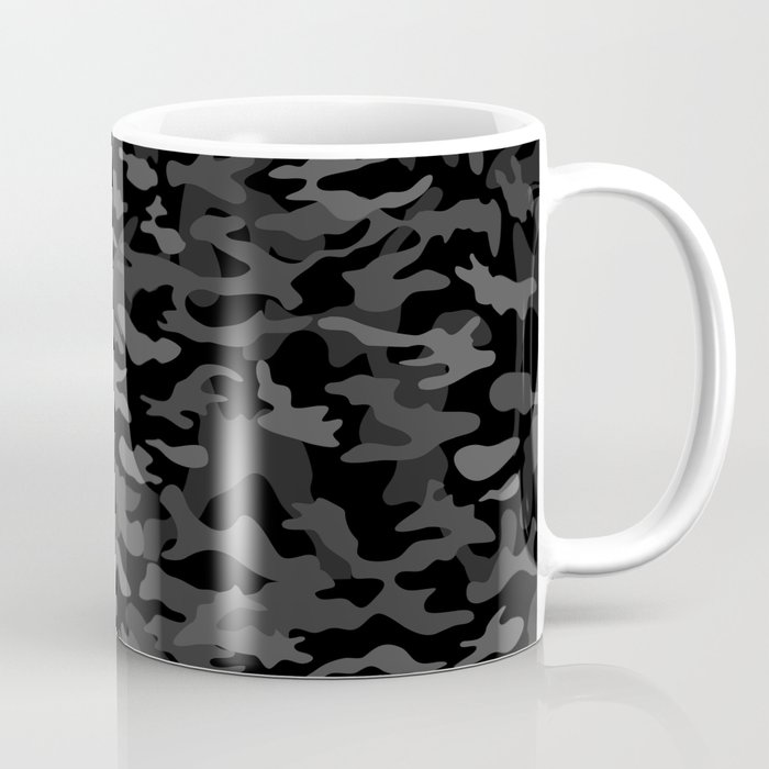 NEW AGE BLACK CAMOUFLAGE IN 4 SHADES OF GRAY Coffee Mug