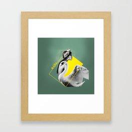 Leda & The Swan. Framed Art Print
