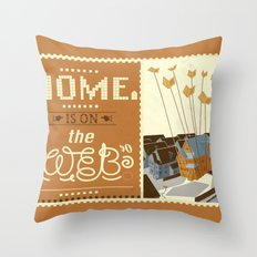 Home on the Web Throw Pillow