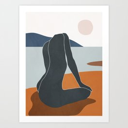 Abstract Art Nude 4 Art Print