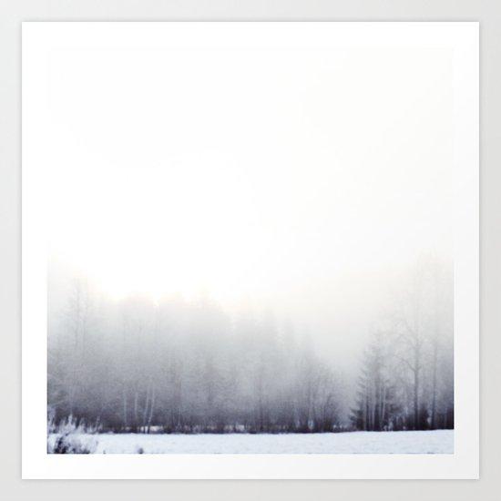 Foggy winter day Art Print