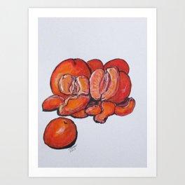 Juicy Tangerines Art Print