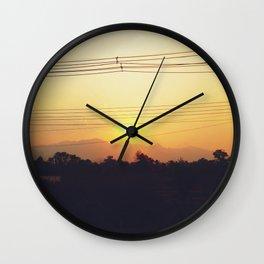 Sunset Sayonara Wall Clock