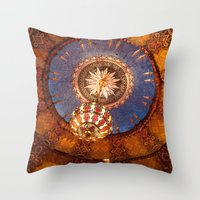 theater Throw Pillows featuring Theater Ceiling by mofoto