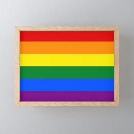 LGBT Pride Flag (LGBTQ Pride, Gay Pride) Framed Mini Art Print