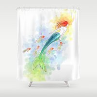 under the sea Shower Curtains featuring Under the Sea by Freeminds