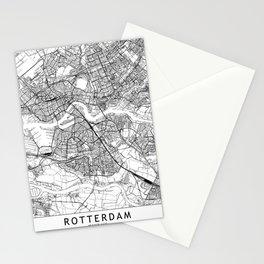 Rotterdam White Map Stationery Cards