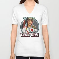 tank girl V-neck T-shirts featuring Tank Girl by the Artisan Rogue