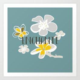 Plumeria Flower Art Print