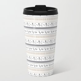 Lineal Bunnies Metal Travel Mug