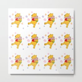 Cartoon Characther winnie the pooh Metal Print