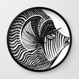 Emperor Angelfish Wall Clock