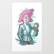 Dona Dulce and her magic spaghetti Art Print