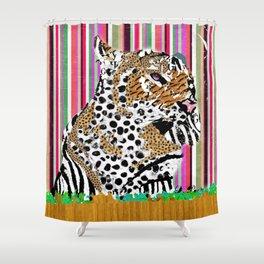 Tiger & His Technicolour Coat Shower Curtain