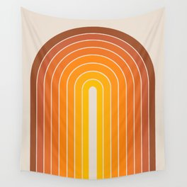 Gradient Arch - Vintage Orange Wall Tapestry