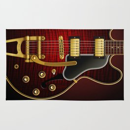 Electric Guitar ES 335 Flamed Maple Rug
