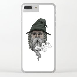 Haldor the Wizard (in color) Clear iPhone Case
