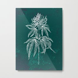 Color Cannabis Illustration Metal Print