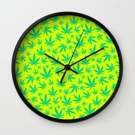 Weed Pattern Wall Clock