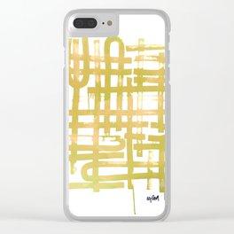 U Turn Chartreuse Clear iPhone Case