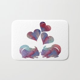 Chinchilla art Bath Mat