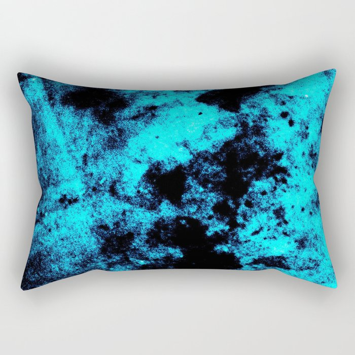 Aqua Distress Rectangular Pillow
